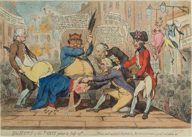 Fascinating Historical Picture of James Gillray on 7/19/1791