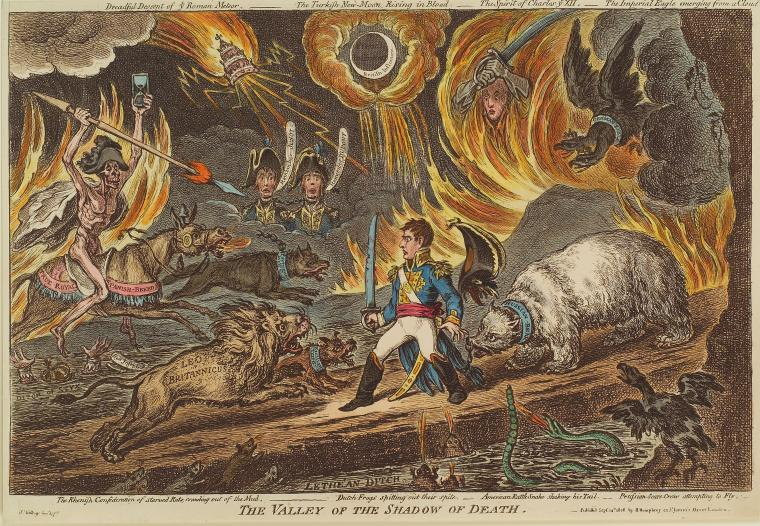 Fascinating Historical Picture of James Gillray on 9/24/1808