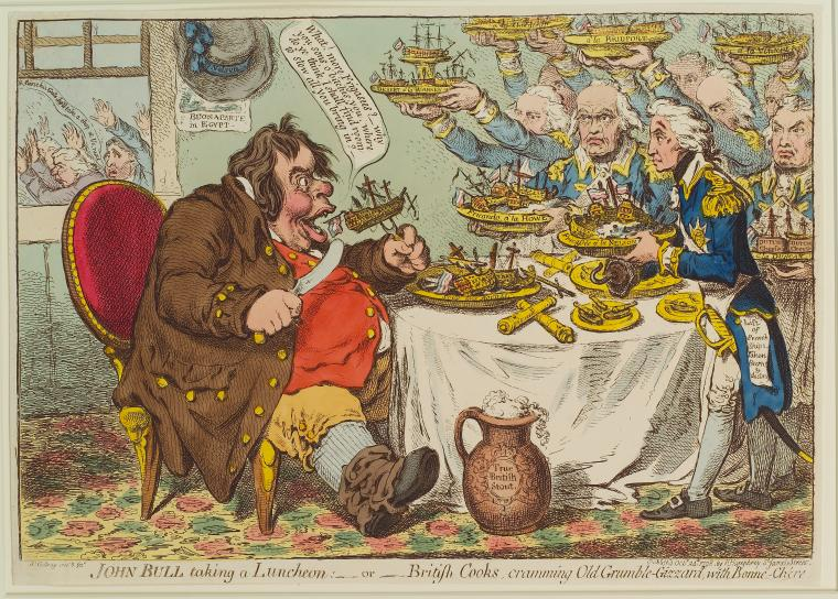 Fascinating Historical Picture of James Gillray on 10/28/1798