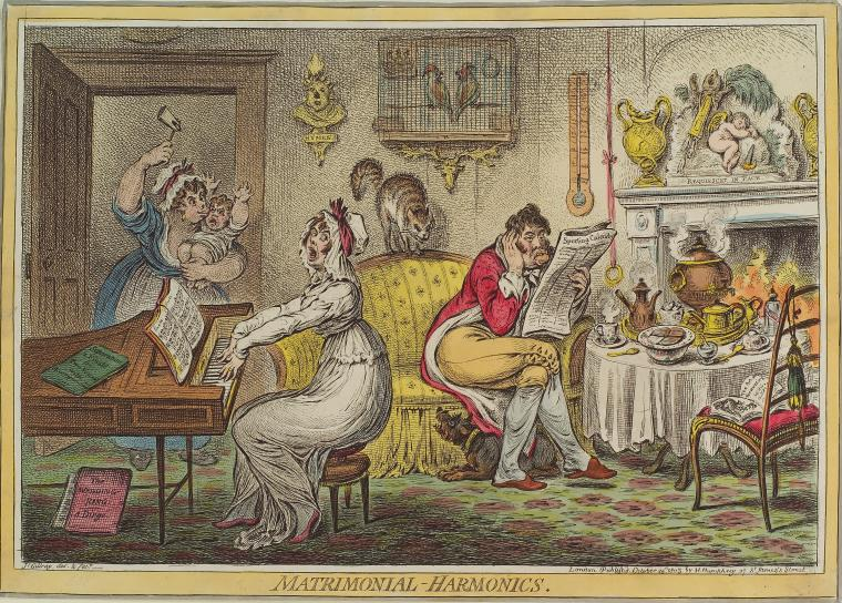 This is What James Gillray and Matrimonial-Harmonics Looked Like  on 10/25/1805