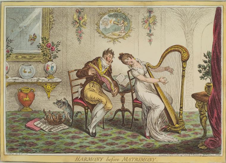 This is What James Gillray and Harmony before Matrimony Looked Like  on 10/25/1805