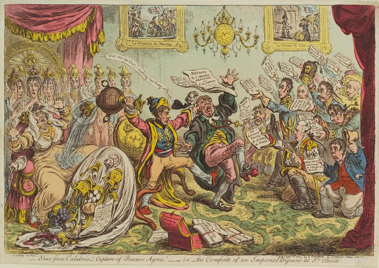 Fascinating Historical Picture of James Gillray on 9/13/1806