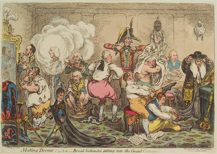 Fascinating Historical Picture of James Gillray on 2/20/1806