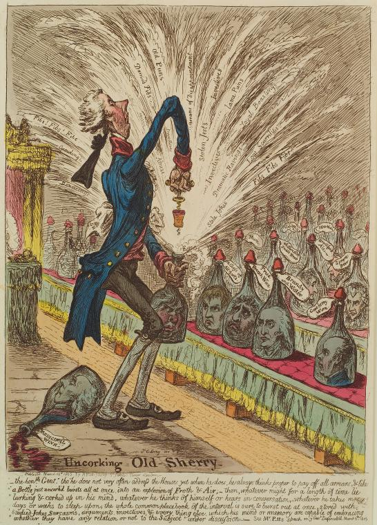 Fascinating Historical Picture of James Gillray on 3/10/1805
