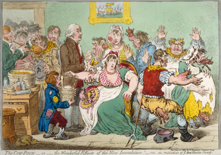 Fascinating Historical Picture of James Gillray on 6/12/1802