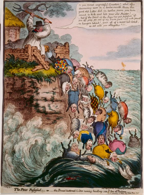 Fascinating Historical Picture of James Gillray on 4/18/1807