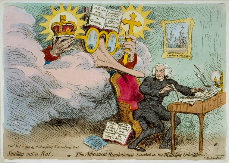 Fascinating Historical Picture of James Gillray on 12/3/1790