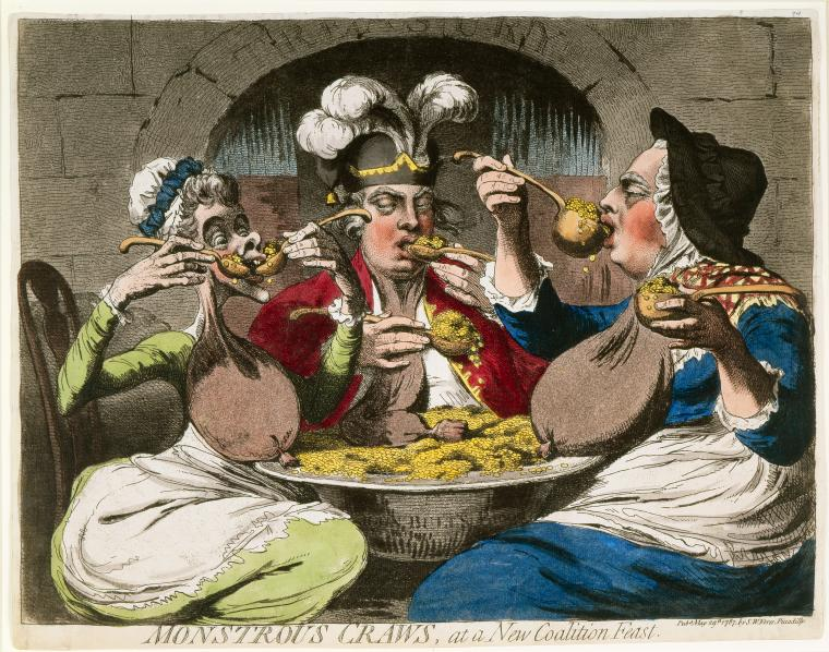 Fascinating Historical Picture of James Gillray on 5/29/1787