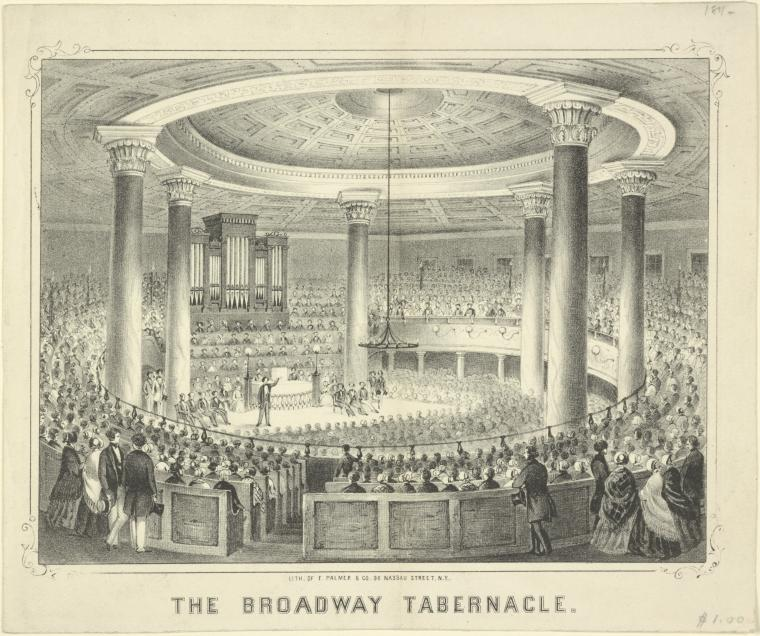Fascinating Historical Picture of Broadway Tabernacle in 1845