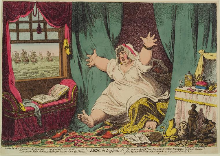 Fascinating Historical Picture of James Gillray on 2/6/1801