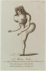 A Modern Venus, or a Lady of the Present Fashion in the state of nature 1786.