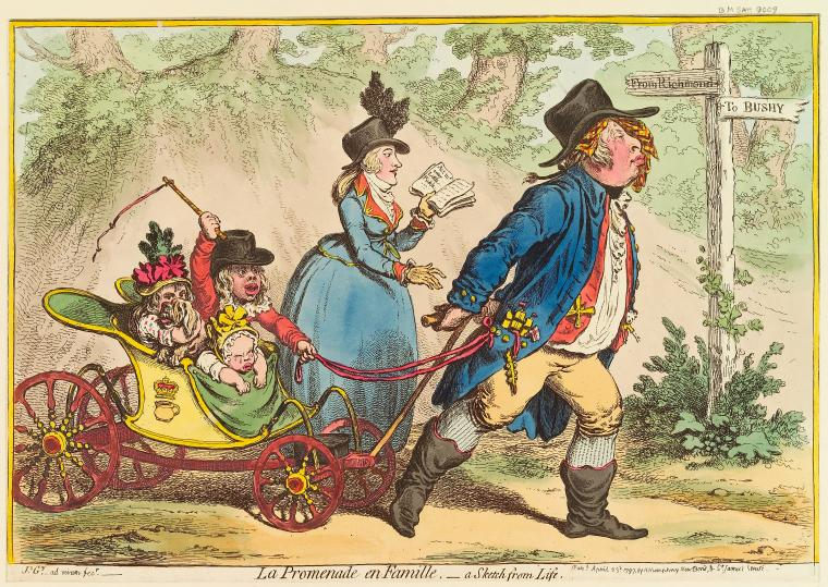 Fascinating Historical Picture of James Gillray on 4/23/1797