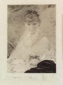 [Girl with kitten], after Ch. Chaplin