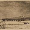 Passage de la Seine par le Genl. Read pendant la guerre de 1870 (2nd state).