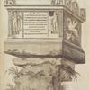 In Via Cassia; Roma, ad tertium lapidem; monumentum marmoreum; huiusmodi forma, et ornamentis; exesum prope vetustate.