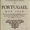 Declaratie van Sijn Koninghlijcke Majesteyt van Portugael Don Ioan [title page]