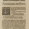 Americans no Iewes