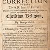 Truth advanced in the correction of many gross & hurtful errors [title page].