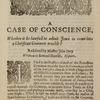 A case of conscience, whether it be lawful to admit Jews into a Christian common-wealth? title page