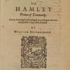 The Tragedy Of Hamlet Prince Of Denmarke.  [title page].