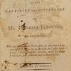A narrative of the captivity and sufferings of Mr. Ebenezer Fletcher, title page