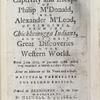 A surprising account, of the captivity and escape of Philip M'Donald, and Alexander M'Leod, of Virginia.  (Title page)