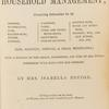 The book of household management [title page].