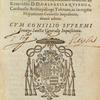 Index et catalogvs librorum prohibitorum, title page