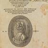 Comedio del divino poeta Danthe Alighieri ... [title page with portrait of Dante].