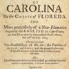A brief description of the province of Carolina on the coasts of Floreda ...  (Title page)