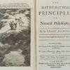 The mathematical principles of natural philosophy, [Frontispiece and title page]