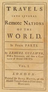 Travels into several remote nations of the world ... Vol. I [title page]