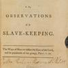 A mite cast into the treasury: or, Observations on slave-keeping ... [title page]