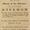 The injustice and impolicy of the slave trade and of the slavery of the Africans [title page]