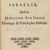 Miḳṿeh Yiśra'el = Hoc est, Spes Israelis [Title page].