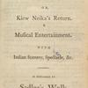 Songs, &c. in The Catawba travellers; or, Kiew Neika's return. [title page]