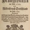 Gottlieb Mittelbergers Reise nach Pennsylvanien im Jahr 1750, title page