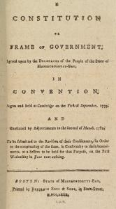 A constitution or frame of government, agreed upon by the delegates of the people of the state of Massachusetts-Bay ... [title page.]