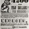 $1200 to 1250 dollars for Negroes