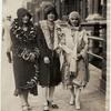 Three members of the Northeasterners, Inc., Edith Scott, Louise Swain, and Helene Corbin on Seventh Avenue in Harlem.