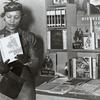 Author Zora Neale Hurston at the Federal Writers Project booth at the New York Times Book Fair