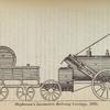 Stephenson's locomotive rail-way carriage, 1829