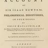 account of Sir Isaac Newton's philosophical discoveries: in four books