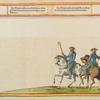 [Two men on horseback wearing tridents.]