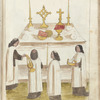 Priests celebrating a mass, f. 273