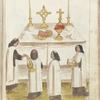 Priests celebrating a mass.