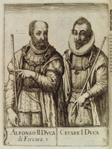Portrait of Alfonso II and Cesare I.