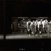 "The Jets' boys and girls performing ""Cool"" in the stage production West Side story."