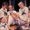 (Clockwise from center) Mary Martin, Marilyn Rogers, Mary Susan Locke, Joseph Stewart, Evanna Lien, Kathy Dunn, and William Snowden in the stage production The Sound of Music