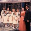 Mary Martin, Laurie Peters, the actors playing the von Trapp children, Marion Marlowe and Theodore Bikel in the stage production The Sound of Music.